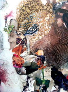 """Wangechi Mutu """"Before Punk There Was Funk"""" Detail Collage Portrait, Collage Art, Nalini Malani, Harlem Renaissance Artists, Occult Art, African Artists, Black Artists, Mixed Media Collage, Contemporary Paintings"""