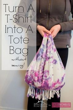 Craftaholics Anonymous® | a DIY grocery bag! pattern that is no sew and makes the best hand bag!