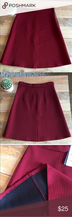 Like New Zara A-Line Skirt Only worn one time! Thicker material beautiful a line skirt. Zara size Small. Bought from another Posher it just does not fit me anymore! The pictures are not mine. Feel free to ask any additional questions.   💕 please make offers through offer button 💰 bundle for a 20% off discount  🚬🐶 smoke & pet free home  🚫 sorry no trades Zara Skirts A-Line or Full