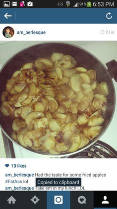 Fried Apples #SweetTooth
