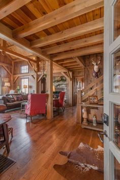 View our gallery of handsome Timber Frame Interiors and imagine the delight of being in your own beautiful space.