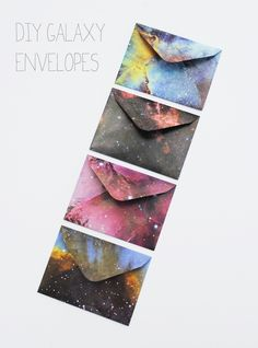 Galaxy Envelopes // 25 Galactic DIYs Inspired By Outer Space
