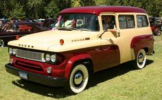 1962 Dodge Wagon Panel - Information and photos - MOMENTcar Antique Trucks, Vintage Trucks, Antique Cars, Vintage Rv, Old Dodge Trucks, Pickup Trucks, Dodge Pickup, Dodge Cummins, Station Wagon