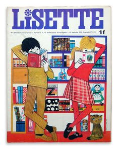 Lisette 1969 No.03 1969 janvier / 21×27.5cm 中綴じ雑誌 36P / カバー全体に傷み(特に最終頁上部)、真ん中に折れジワあり 1921年に発刊されたローティーン向けの雑誌。マンガを中心に、いくつかの読み物で構成されています。'le journal des 5'はカロリーヌによる友達との本の貸し借りがテーマ。マンガLe journal de Veroniqueの連載もあります。表紙のイラストはカトリーヌ・カンビエ。
