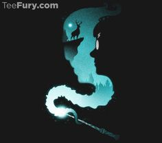 The Snake and The Stag by Drew Wise. Get yours here: http://www.teefury.com/the-snake-and-the-stag?utm_source=pinterest&utm_medium=referral&utm_content=thesnakeandthestag&utm_campaign=drewwisespotlight
