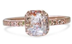 1.07 Carat Champagne/Peach Diamond Ring in Rose Gold - CHINCHAR•MALONEY