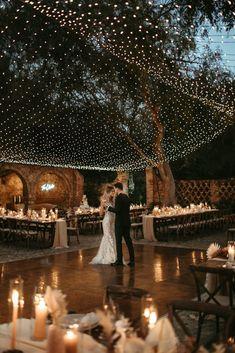 Beautiful wedding décor over the dancefloor. Great idea to consider! Cute Wedding Ideas, Wedding Goals, Wedding Themes, Perfect Wedding, Fall Wedding, Our Wedding, Wedding Photos, Wedding Inspiration, Wedding With Lights