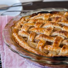 Caramel pear pie for the ton of pears Luis gave me