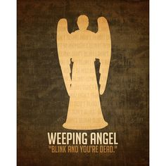 8x10 Doctor Who Art Print Weeping Angel Villain Poster Print... ($18) ❤ liked on Polyvore