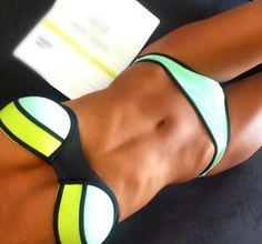 This swim suit looks great with a nice tan.