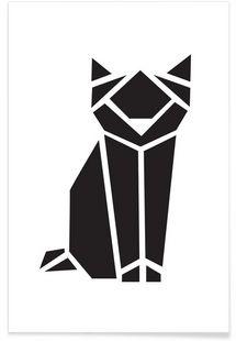 Origami Katze - Eulenschnitt - Affiche premium