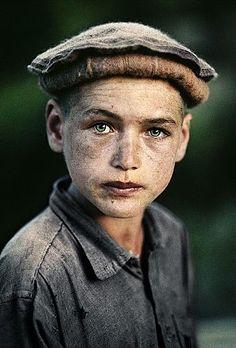 Artist: Steve McCurry, Afghan Boy in Nuristan, 1990, fuji crystal photograph, 24 X 20 inches