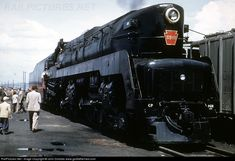 A rare Color photo of a Pennsylvania Railroad T1 Duplex locomotive. Despite the appearance, the T1s were not articulated locomotives like the Big Boys or Y6-Bs; instead the frame was still rigid