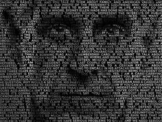 Text portrait effect designed by Chris Spooner. Connect with them on Dribbble; Free Photoshop Plugins, Text Portrait, Rustic Design, Graphic Design, Visual Communication