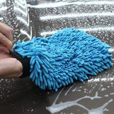 Auto Pflege 2 in 1 Ultrafeine Fasern Chenille Microfiber Auto-wäsche-handschuh Mitt für Auto Waschmaschine und Reinigung (Anthozoan/Nudel)