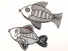 zentangle fish outline - Google Search