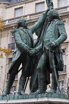 Both of  French Huguenot Descent Washington & La Fayette statues, Place des États-Unis, Paris XVI