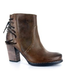 Elite by Corkys Brown Westie Leather Bootie   zulily