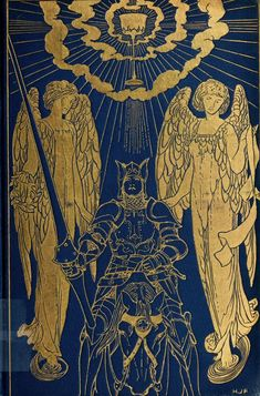 The Book of Romance by Andrew Lang, 1903 Gilded Angels on Midnight Blue Leather Cover and illustrations by Henry Justice Ford Book Cover Art, Book Cover Design, Book Design, Victorian Books, Antique Books, Vintage Book Covers, Vintage Books, Dossier Photo, Art Inspo