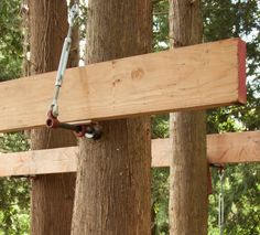 Static Uplift Arrestor used for DIY treehouse building – Be in a Tree