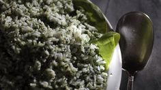 Cool rice and cucumber salad