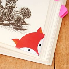 This cute and free printable fox corner bookmark will make even the most boring book look cute!