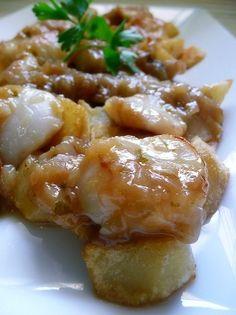 Casi tortilla de patatas con vieiras