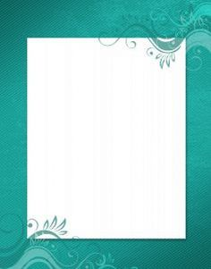 frame Turquoise Background, Borders And Frames, Backrounds, Paper Frames, Planner Pages, Flower Frame, Swirls, Tiffany, Gifs