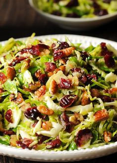 Brussels Sprout Cranberry Salad in Honey Mustard Vinaigrette Quick Healthy Breakfast, Breakfast Recipes, Diy Food, Sprouts, Diet Recipes, Recipes For Breakfast, Healthy Diet Recipes, Skinny Recipes