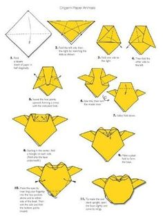 Ideas Origami Animals Instructions Watches For 2019 Origami Owl, Dragon Origami, Origami Envelope, Origami Fish, Origami Paper Art, Origami Folding, Origami Flowers, Origami Ideas, Paper Folding