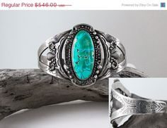 Vintage Old Dead Pawn Native American Navajo Fred Harvey Era Hand Stamped Spider Web Turquoise Large Wide Sterling Silver Cuff Bracelet by JustLolaAndMe on Etsy https://www.etsy.com/listing/227016062/vintage-old-dead-pawn-native-american