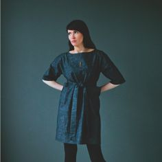 denim pocket dress by Martha W McQuade Clothes Horse, Women's Clothes, Simple Style, My Style, Summer Tunics, Ugg, What To Wear, Autumn Fashion, Tunic Dresses