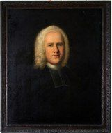 Portrait of Whitefield in Whitefield Memorial Chapel, Tottenham Court Road, London