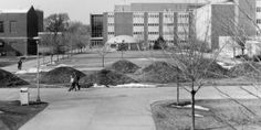 """From the Archives: """"81 Mounds"""", a land sculpture designed by UW Oshkosh assistant art professor Richard G. Medlock, was constructed in 1977 only to be removed in 1983."""