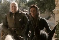 Catelyn with Ser Rodrik Cassel