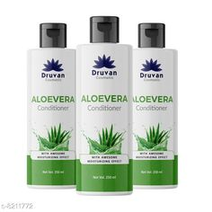 Conditioner Druvan Cosmetic Aloevera Conditioner For Hair Growth pack of 3 (250ml)  Product Name: Druvan Cosmetic Aloevera Conditioner For Hair Growth pack of 3 (250ml)  Brand Name: Druvan Cosmetic Hair Type: All Hair Type Flavour: Aloe Vera Multipack: 3 Country of Origin: India Sizes Available: Free Size   Catalog Rating: ★4.1 (294)  Catalog Name: Druvan Cosmetic Sensational Natural Conditioner CatalogID_1368165 C166-SC2040 Code: 213-8211772-7911