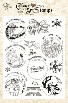 New Snow Globe Clear Art Stamp Sets just arrived and only $15.50 for this large set!  All our Clear Art Stamp Sets are on sale as we are building our Digital Art Stamp Line  and adding many popular past stamp sets.