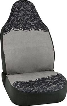 Bell Automotive 22-1-56714-9 Floral Lace Grey Universal Bucket Seat Cover