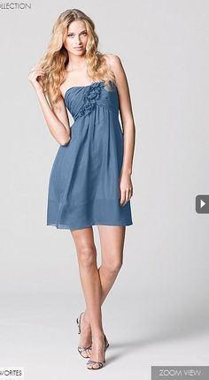 Watters.com #blue #bridesmaid #dress