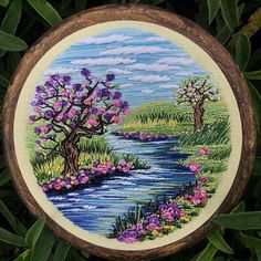 Embroidery Hoop Crafts, Hand Embroidery Projects, Embroidery Flowers Pattern, Creative Embroidery, Simple Embroidery, Hand Embroidery Stitches, Modern Embroidery, Crewel Embroidery, Hand Embroidery Designs