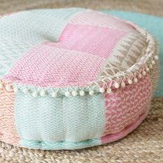 pastel indian inspired pouf