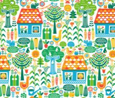 Spoonflower Fabric of the week voting: Farming