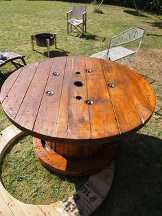 cable spool table I have always wanted one of these!