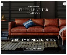 Quality Is Never Retro / Elite Leather Co. / American Custom Made Furniture  sc 1 st  Pinterest : elite leather sectional - Sectionals, Sofas & Couches