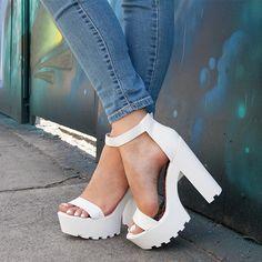 High Times In Ridged Platform Heels