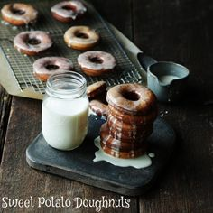Be still our hearts. Sweet Potato Doughnuts with Ginger Glaze from @ChefBillyParisi