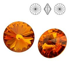 1122 Rivoli SS39 Topaz F 2pcs  Dimensions: diameter 8,16-8,41 mm Colour: Topaz F 1 package = 2 pieces