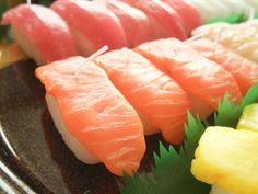 Salmon sushi candle
