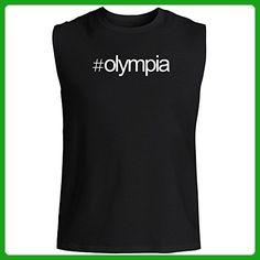 Idakoos - Hashtag Olympia - US Cities - Sleeveless T-Shirt - Cities countries flags shirts (*Amazon Partner-Link)