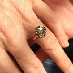 Custom bridal engagement ring designed by Shaesby at our studio in Austin, TX.